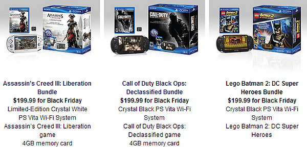 Sony Black Friday bundles drop price of PS3 and PS Vita to $200