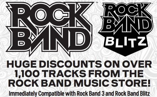 Rock Band turns 5! Harmonix cuts track prices by 50%; instantly compatible with Rock Band 3 and Rock Bnad Blitz