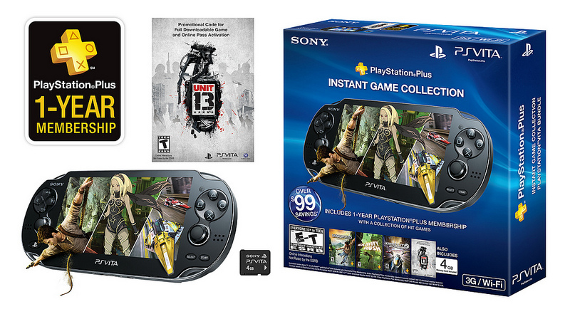 Sony PS Vita + Unit 13 + PS Plus Bundle