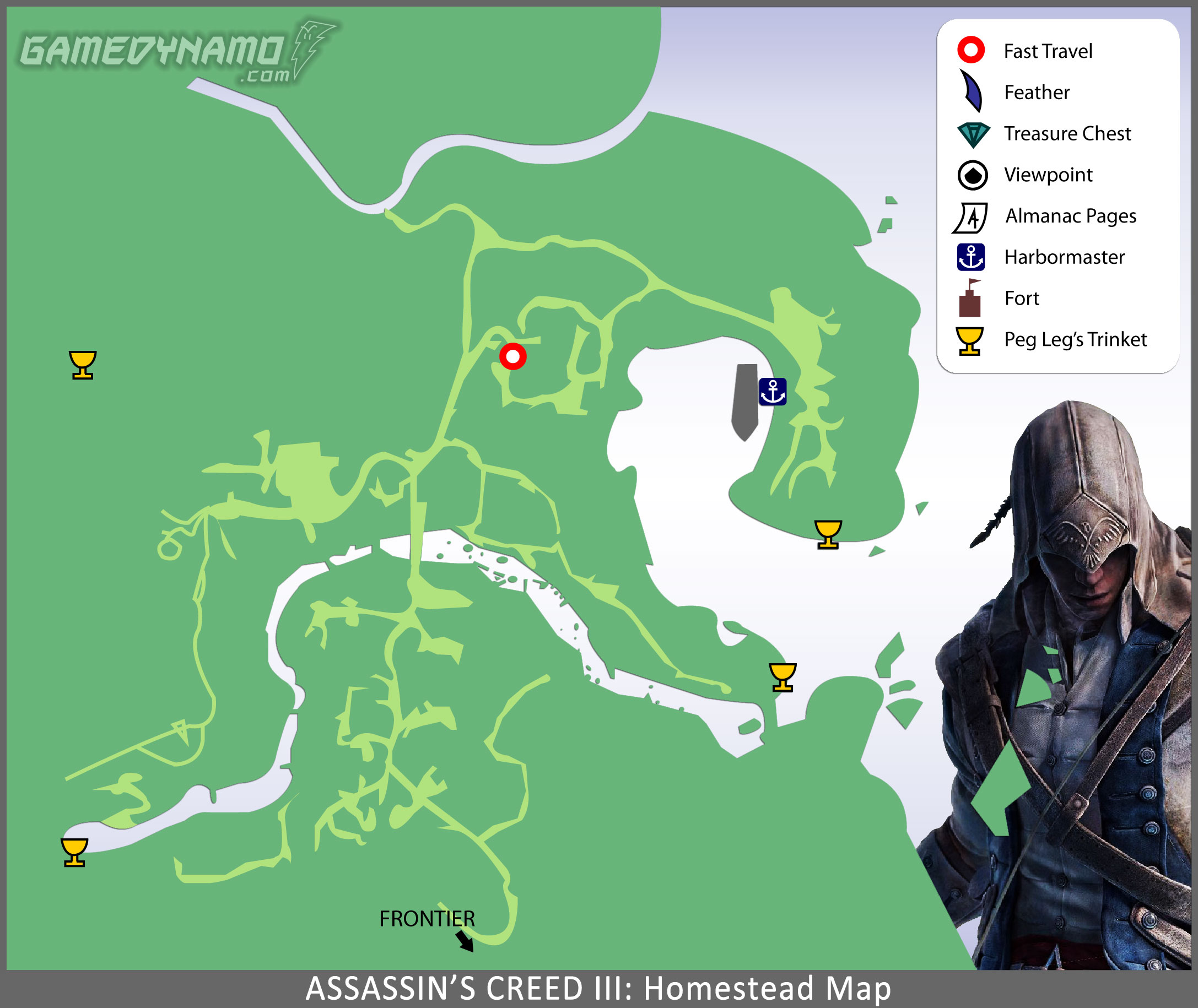 assassins creed 3 remastered map