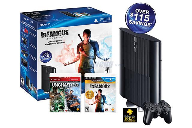 250 GB PS3 Bundle with inFAMOUS and Uncharted