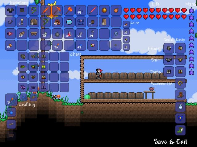 How To Use A Crafting Table In Terraria Pc