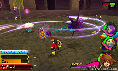Kingdom Hearts 3DS Dream Distance Drop (3DS) Hands-On Preview Screenshots