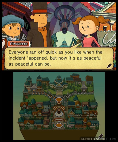 Professor Layton and the Miracle Mask (Nintendo 3DS) Review Screenshot