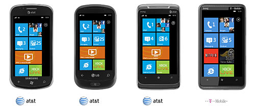 Windows Phone 7 Hardware Line-up
