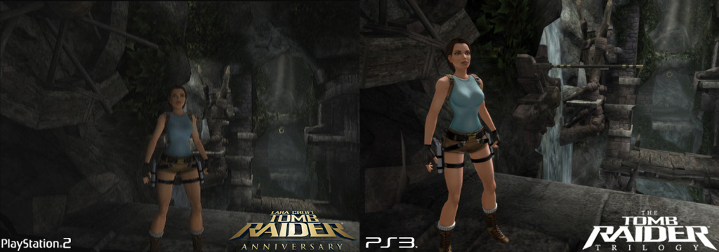 Game News Official Tomb Raider Trilogy Ps2 To Ps3 Comparison