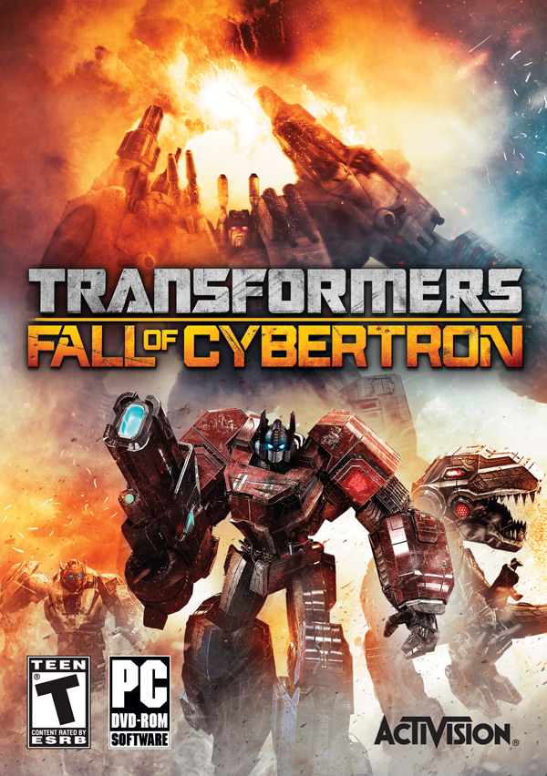 Transformers: Fall of Cybertron PC box art / packshot (Activision, High Moon Studios, FOC)