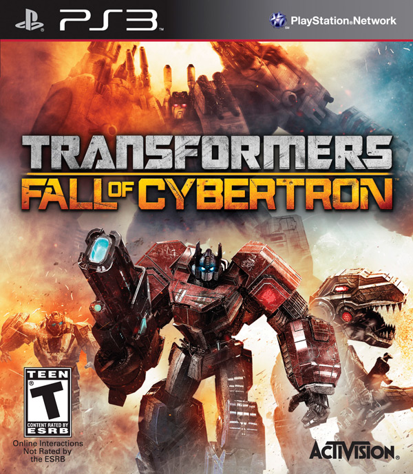 Transformers: Fall of Cybertron PS3 box art / packshot (Activision, High Moon Studios, FOC)