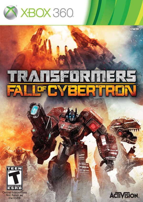 Transformers: Fall of Cybertron Xbox 360 box art / packshot (Activision, High Moon Studios, FOC)