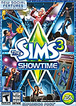 The Sims 3: Showtime Box Art